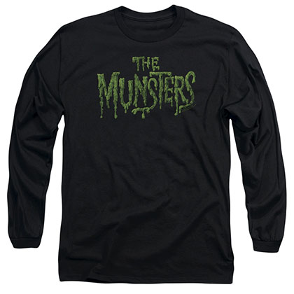 Munsters Distress Logo Black Long Sleeve T-Shirt