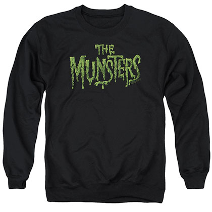 Munsters Distress Logo Black Crew Neck Sweatshirt
