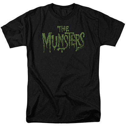 Munsters Distress Logo Black T-Shirt