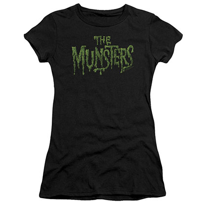 Munsters Distress Logo Black Juniors T-Shirt