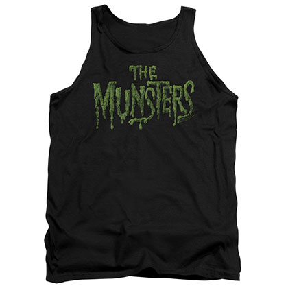 Munsters Distress Logo Black Tank Top