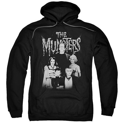 Munsters Family Portrait Black Pullover Hoodie