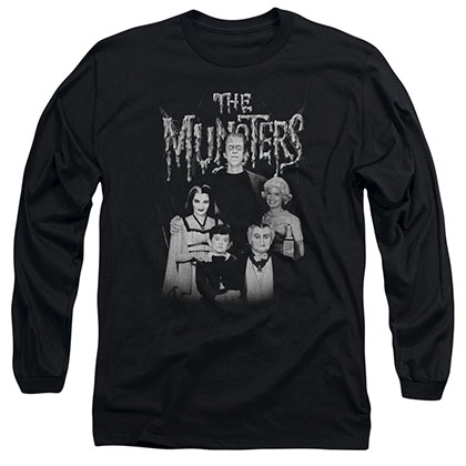 Munsters Family Portrait Black Long Sleeve T-Shirt
