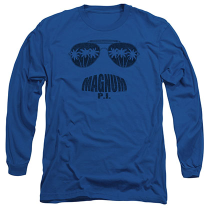 Magnum Pi Face It Blue Long Sleeve T-Shirt