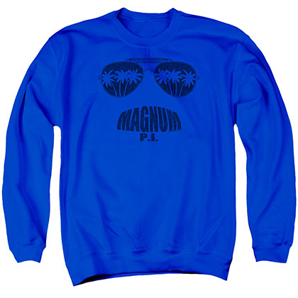 Magnum Pi Face It Blue Crew Neck Sweatshirt