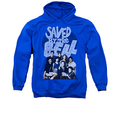 Saved By The Bell Retro Cast Blue Pullover Hoodie