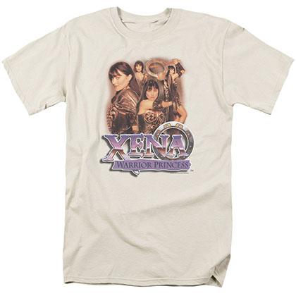 Xena Princess Collage Beige T-Shirt