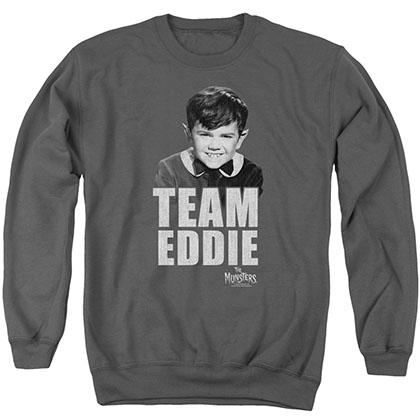 Munsters Team Edward Gray Crew Neck Sweatshirt