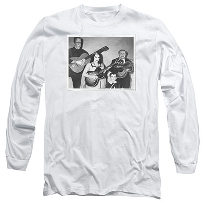 Munsters Play It Again White Long Sleeve T-Shirt
