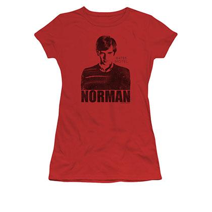 Bates Motel Norman Red Juniors T-Shirt