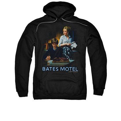 Bates Motel Die Alone Black Pullover Hoodie