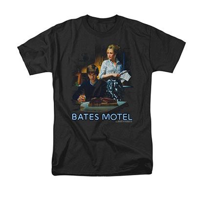 Bates Motel Die Alone Black T-Shirt