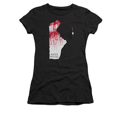 Bates Motel Criminal Profile Black Juniors T-Shirt