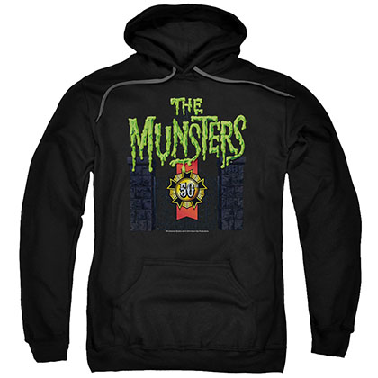 Munsters 50 Year Logo Black Pullover Hoodie