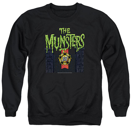 Munsters 50 Year Logo Black Crew Neck Sweatshirt