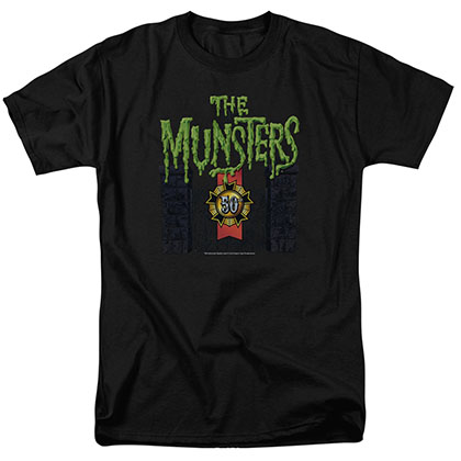 Munsters 50 Year Logo Black T-Shirt