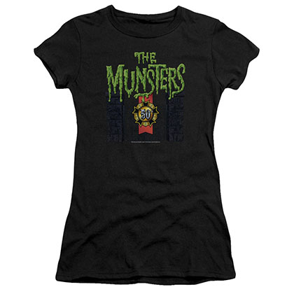 Munsters 50 Year Logo Black Juniors T-Shirt