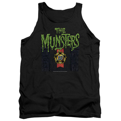 Munsters 50 Year Logo Black Tank Top