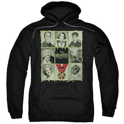 Munsters Blocks Black Pullover Hoodie