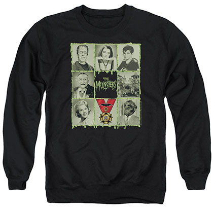 Munsters Blocks Black Crew Neck Sweatshirt