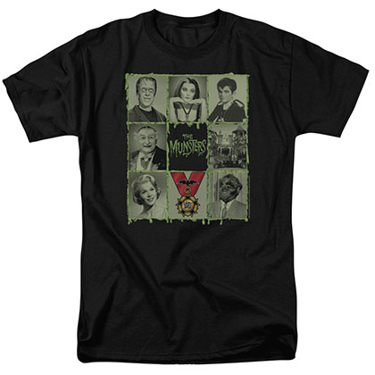 Munsters Blocks Black T-Shirt