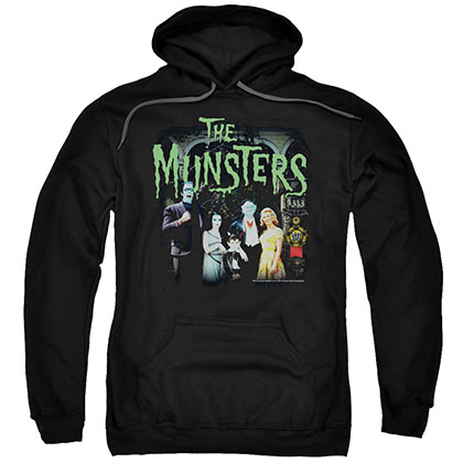 Munsters 1313 50 Years Black Pullover Hoodie