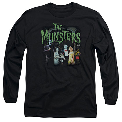 Munsters 1313 50 Years Black Long Sleeve T-Shirt
