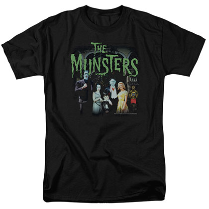 Munsters 1313 50 Years Black T-Shirt