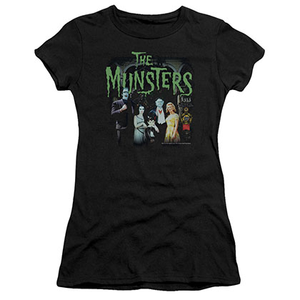 Munsters 1313 50 Years Black Juniors T-Shirt