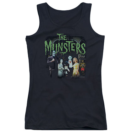 Munsters 1313 50 Years Black Juniors Tank Top