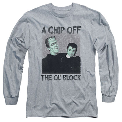 Munsters Chip Gray Long Sleeve T-Shirt