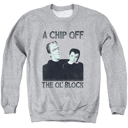 Munsters Chip Gray Crew Neck Sweatshirt