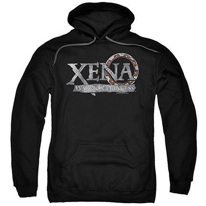 Xena Battered Logo Black Pullover Hoodie