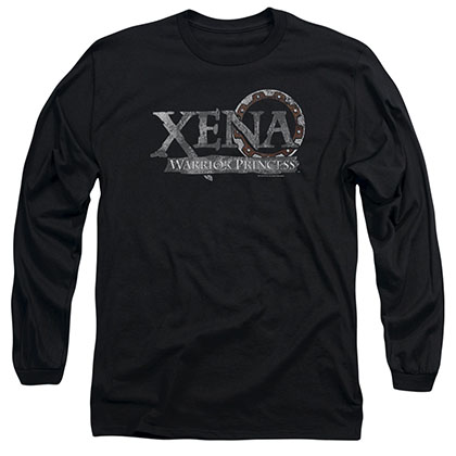 Xena Battered Logo Black Long Sleeve T-Shirt