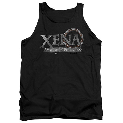 Xena Battered Logo Black Tank Top