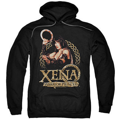 Xena Royalty Black Pullover Hoodie