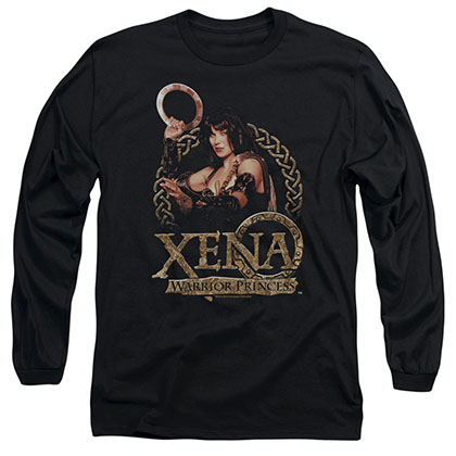 Xena Royalty Black Long Sleeve T-Shirt