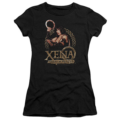 Xena Royalty Black Juniors T-Shirt