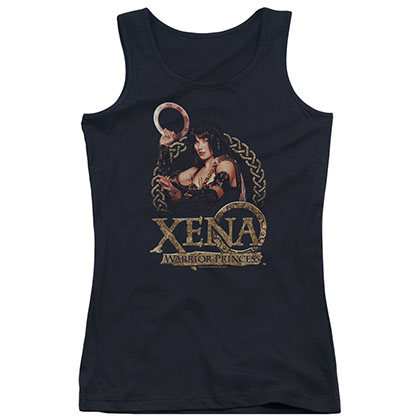 Xena Royalty Black Juniors Tank Top