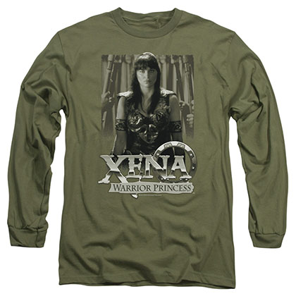 Xena Honored Green Long Sleeve T-Shirt
