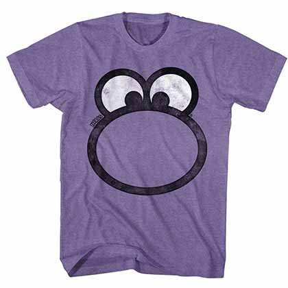 Nestle Nerd Face Mens Retro Purple T-Shirt