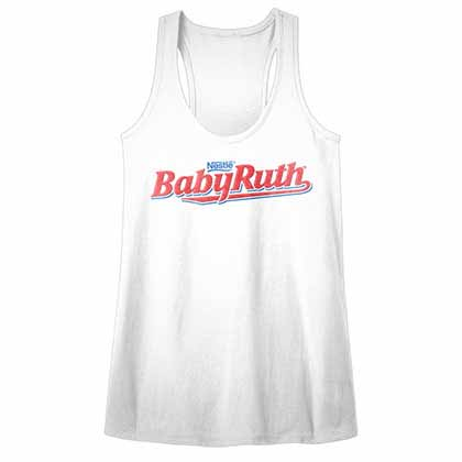 Nestle Baby Ruth Womens White T-Shirt