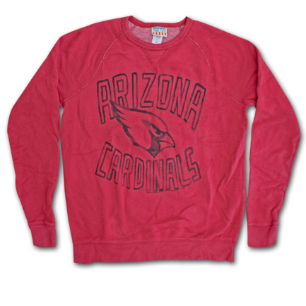 Arizona Cardinals Vintage Logo Junk Food Brand Sweatshirt
