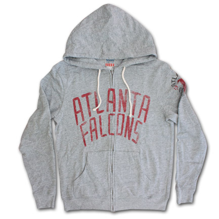 Atlanta Falcons Front Zip Junk Food Brand Hoodie