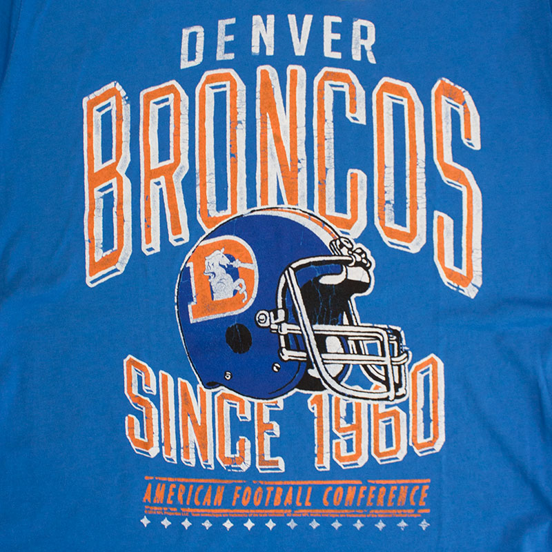 Junk Food Blue Denver Broncos 1960 NFL T-Shirt