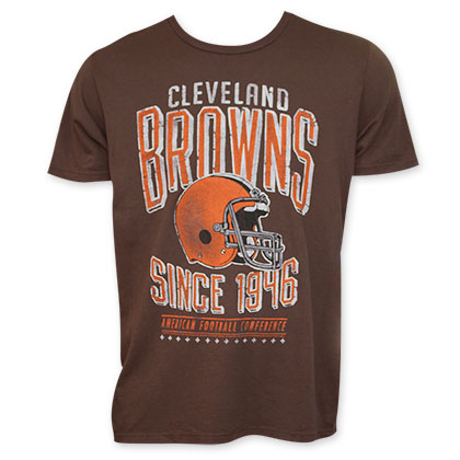 Junk Food Brown Cleveland Browns 1946 NFL T-Shirt