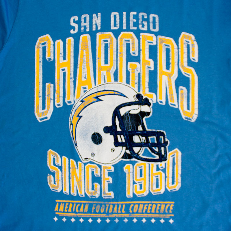 Junk Food Retro NFL San Diego Chargers Men's Tee Shirt