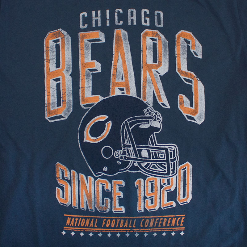 Junk Food Retro NFL Chicago Bears Men's Tee Shirt