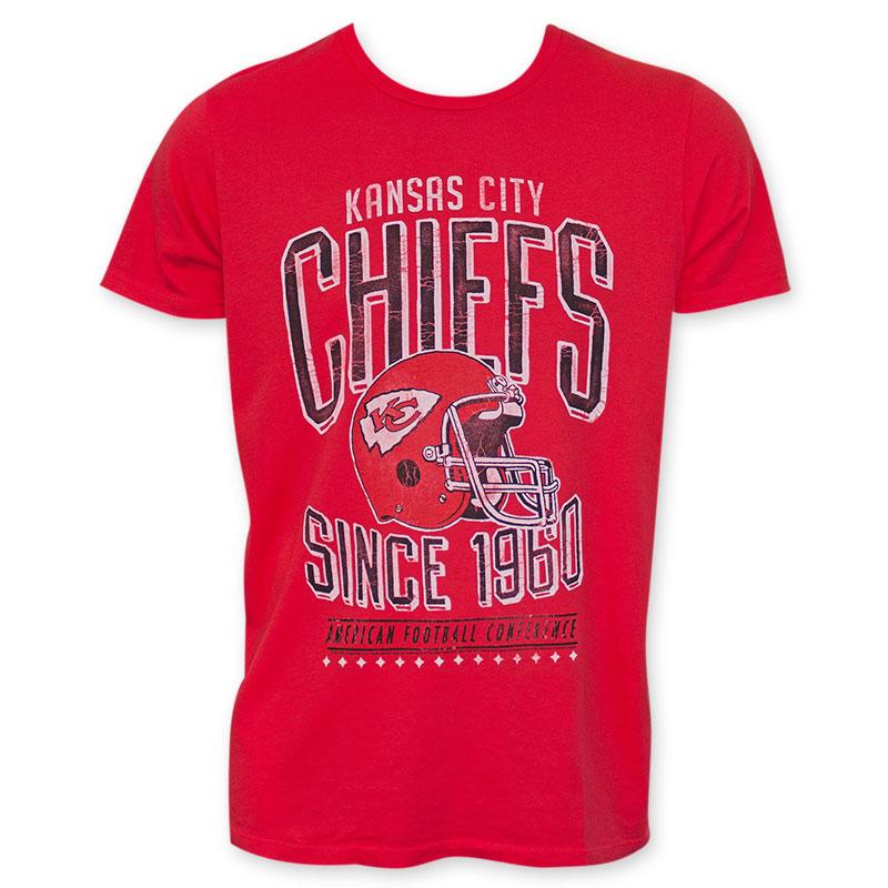 Junk food vintage red nfl kansas city chiefs men 39 s tee shirt for Kansas city chiefs tee shirts