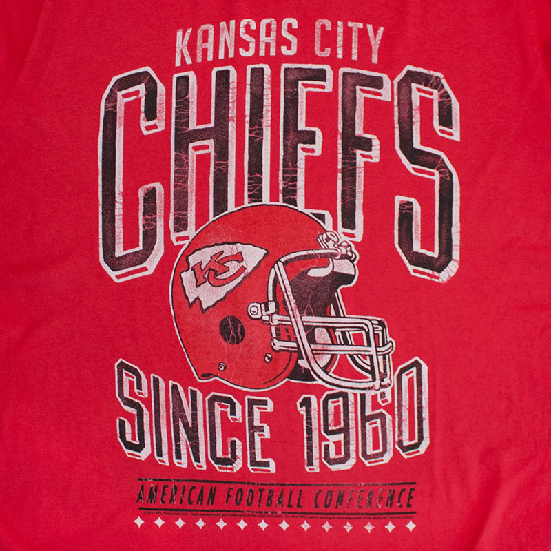 Junk Food Vintage Red NFL Kansas City Chiefs Men's Tee Shirt